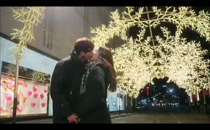 Pinocchio Winter Street Kiss