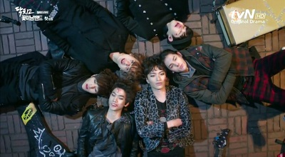 Shut Up Flower Boy Band Korean Drama - Sung Joon, Lee Min Ki, Kim Min Suk, L, Lee Hyun Jae, and Yoo Min Kyu