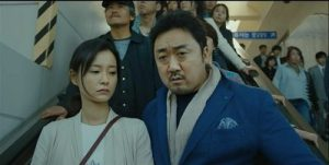Train to Busan Korean Movie - Jung Yu Mi and Ma Dong Suk