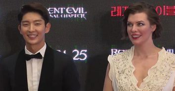 Resident Evil: The Final Chapter South Korean Movie Event - Lee Joon Gi and Milla Jovovich