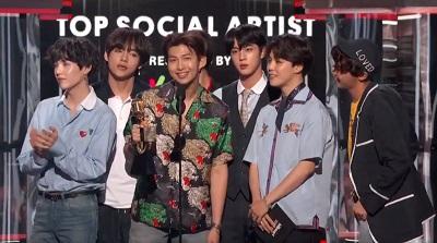 BTS - Billboard Music Award's Top Social Artist 2018