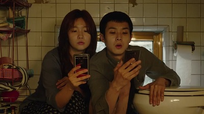 Parasite Korean Movie - Choi Woo Shik and Park So Dam