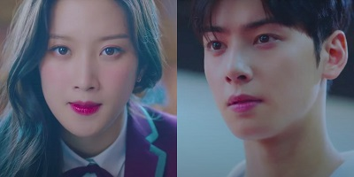 True Beauty Korean Drama - Cha Eun Woo and Moon Ga Young